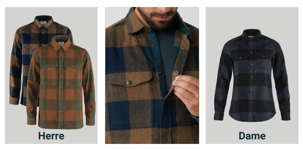 Produtkbilder av Canada Shirt fra Fjällräven i de nye farger
