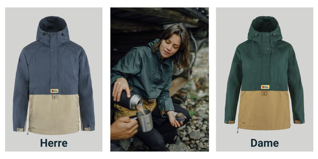 Produktbilder av Vardag Anorakk fra Fjällräven i nye farger