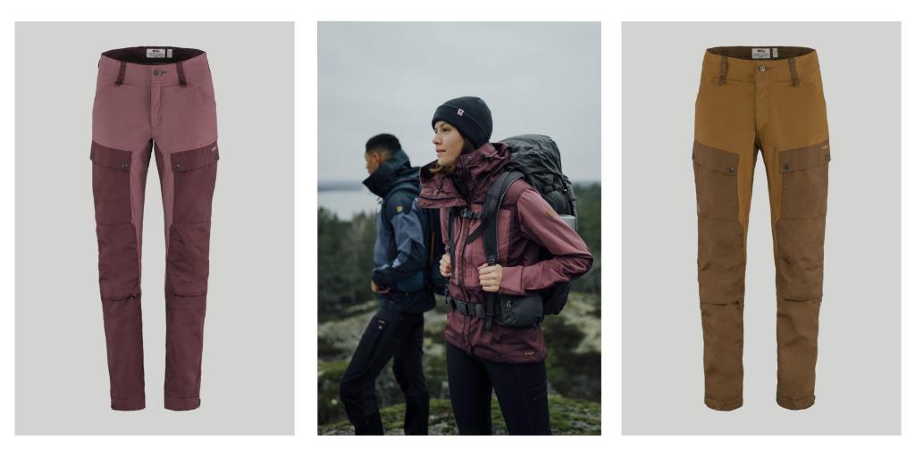 Produktbilder av Keb-bukse fra Fjällräven i nye farger